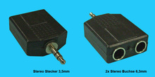 3,5mm/6,3mm Stereo Y-Adapter