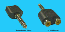 6,3mm/RCA Stereo Adapter